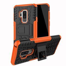Galaxy S9 Plus Case, Dooge Dual Layer Slim Thin TPU+PC Bumpe