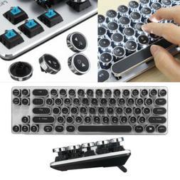 Qisan game mechanical type keyboard black backlight wired ke