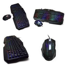 Rii Gaming Keyboard And Mouse Combo,Led Rainbow Backlit Usb