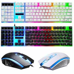 Gaming Keyboard And Mouse Combo Mechanical Feel Multi-Color