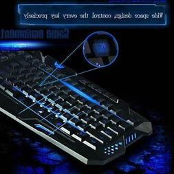Gaming Keyboard Backlit PC Mechanical Backlight Wired 114-Ke