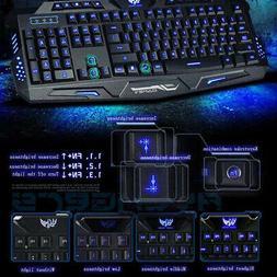 Gaming Keyboard Backlit PC Mechanical Feeling Backlight Wire