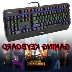 Gaming Keyboard Backlit PC Mechanical Feeling Backlight USB