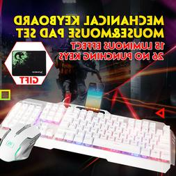 gaming keyboard kit backlit pc mechanical feeling
