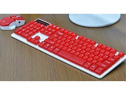 Gaming Keyboard Mechanical Feel Steel Plate Aluminum Alloy Seven Color Backlight Keyboard Red Andosange