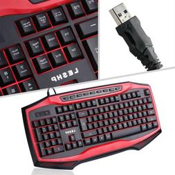 Gaming Keyboard Mechanical USB Ergonomic Wired PC Keyboard F