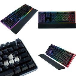 ROSEWILL Gaming Keyboard, RGB LED Backlit Wired Membrane Mec