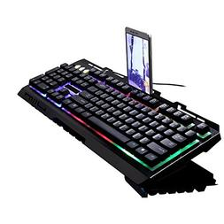 SUImeito Gaming Keyboard for G700 Led Rainbow Color Backligh