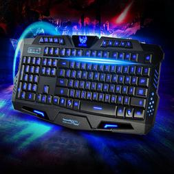 Gaming Keyboards Mechanical Sense Backlit Tricolor Luminesce