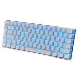 Gaming Mechanical Keyboard 82 Keys Wired Keyboard White Sing