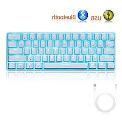 LexonElec Gaming Mechanical Keyboard RK61 Wired/Wireless Blu