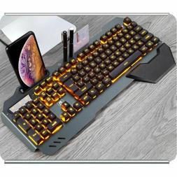 Gaming Mechanical Wired Ergonomic Keyboard With RGB Backligh