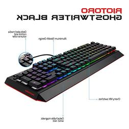 RIOTORO Ghostwriter Cherry MX Black Mechanical Keyboard with