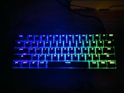 GK61KeysUSB YELLOW Gateron Switch RGB Backlit Mechanical OPT