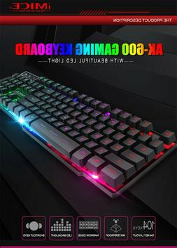 high quality mechanical keyboard 104 keys blue