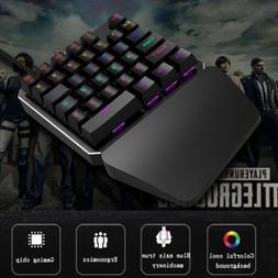 HXSJ J100 Mechanical Gaming Keyboard One-Hand USB Blue Switc