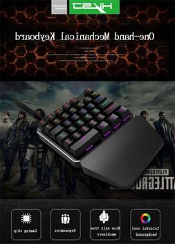 HXSJ J100 One-hand 35Keys Wired USB Gaming Mechanical keyboa