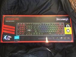 Redragon K556 RGB LED Backlit Mechanical Gaming Keyboard 104