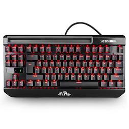 Rii Mechanical Backlit Keyboard, K63C USB Wired Mechanical G