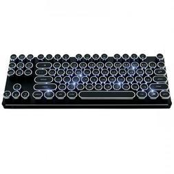 K830 Aluminum Retro Circle Keycap White LED Ten-keyless Mec