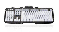 Kaliber Gaming HVER Aluminum Gaming Keyboard - Imperial Whit