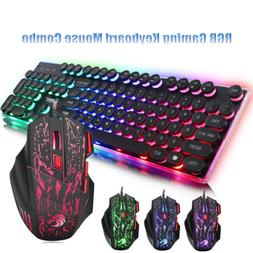 Keyboard and Mouse For PS4 PS3 Xbox One PC T6 Gaming Rainbow