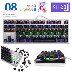 Keyboard Mechanical Gaming Wired USB 6 Color LED Backlight K