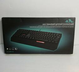 Rii Keyboard Mechanical, Gaming with USB Cable K66, 104 Keys