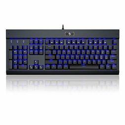 kg010 mechanical keyboard clicky black keyboard blue