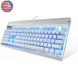 Eagletec KG011 Mechanical Keyboard Blue White