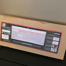 kg011 r mechanical keyboard industrial rainbow lighted