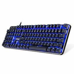 EagleTec KG050-BR Blue LED Backlit Mechanical )