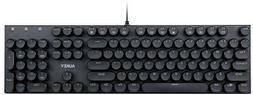 Aukey KM-G10 104-Key Mechanical Keyboard with Typewriter Ret