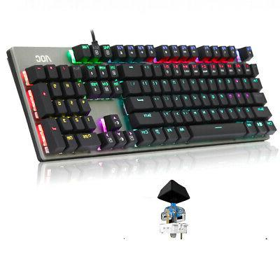 104 Wired Keyboard USB Accessories RGB