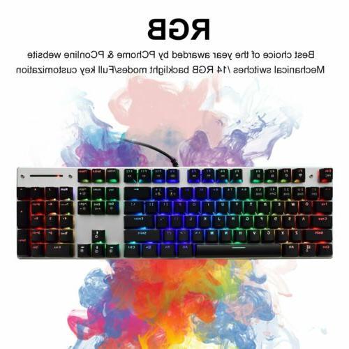 Mechanical LED Backlit RGB Gaming Keyboard Blue Switches Met