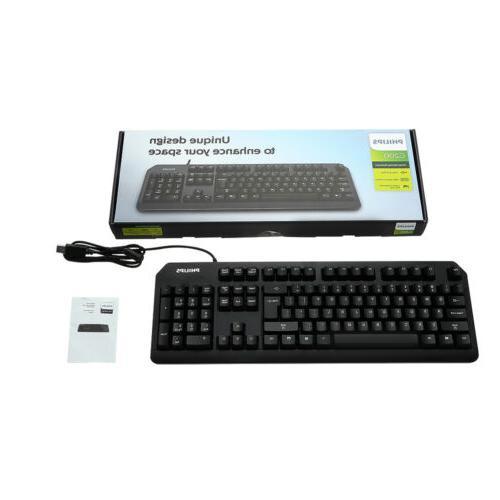 Mechanical Gaming Keyboard USB Wired Ergonomic Gamer Keyboar