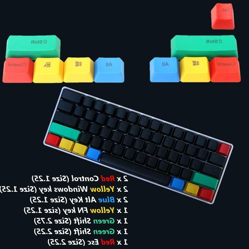 10pcs rgby keycap modifiers for cherry mx