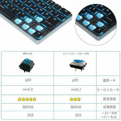16mm Wireless Mechanical Keyboard Taptek New