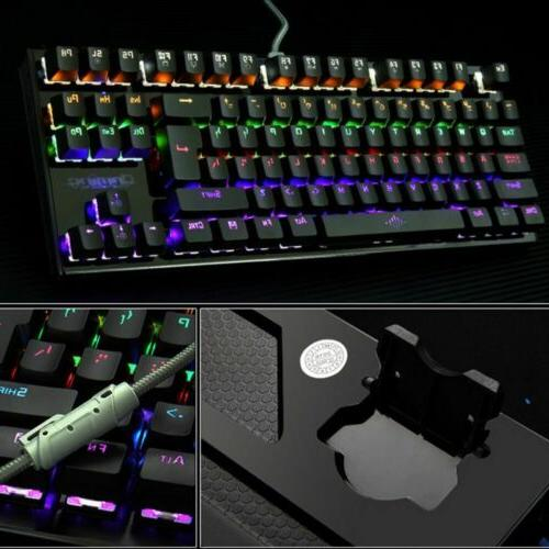 1X Mechanical USB Wired LED Keys Accessories