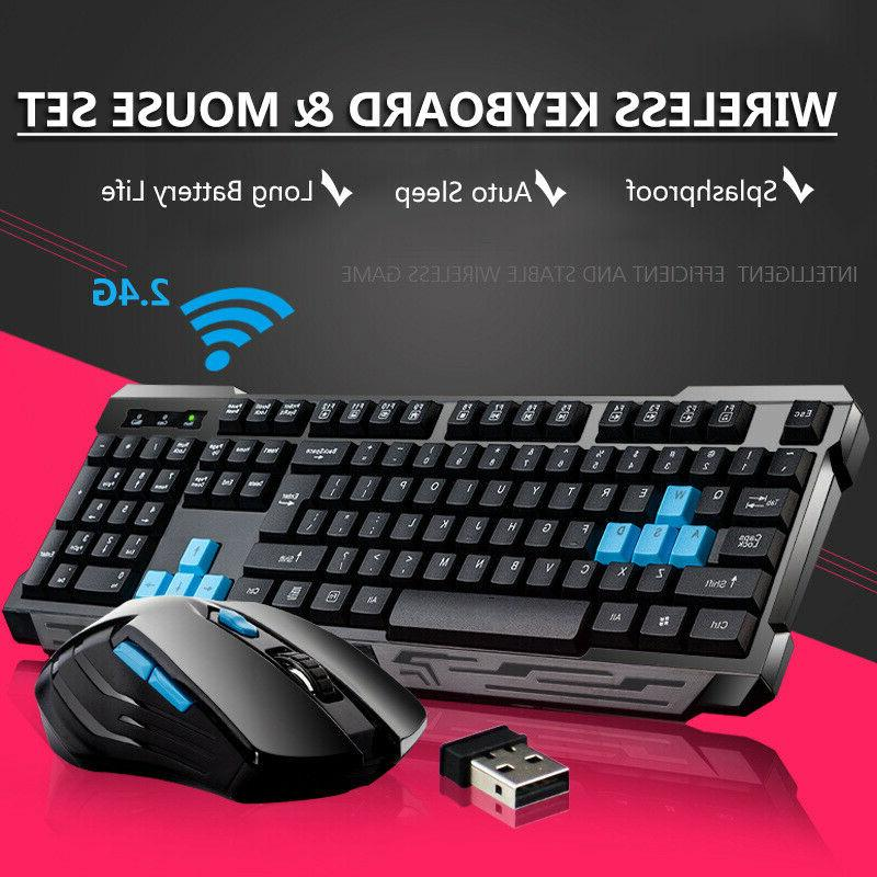 2 4ghz wireless gaming keyboard and mouse