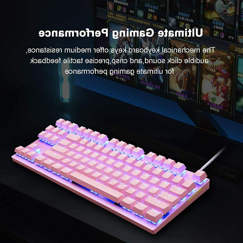 MOTOSPEED 2.4GHz Wireless/Wired Mechanical Keyboard 87Keys L