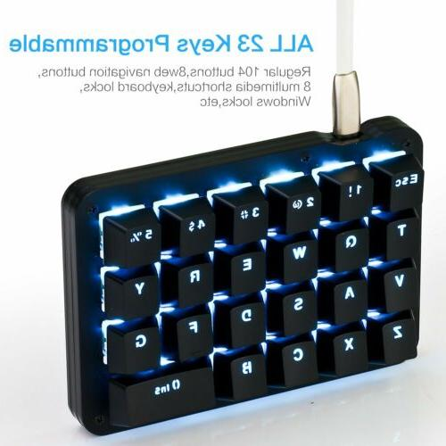 Red Mechanical Gaming Keypad 23 Fully Programmable
