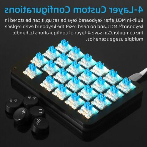 23 Keyboard Keypad Switches Round Keycap