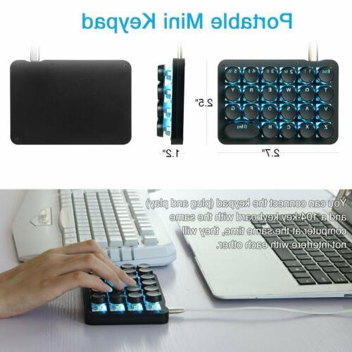 23 Programmable Key Keyboard Switches Round