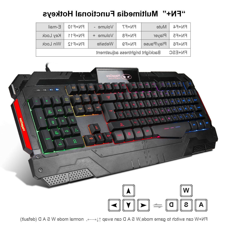 3200 & Mouse Combo Rainbow RGB LED Feel