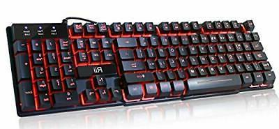 3Color Change Computer Desktop Gaming Keyboard Mechanical Fe