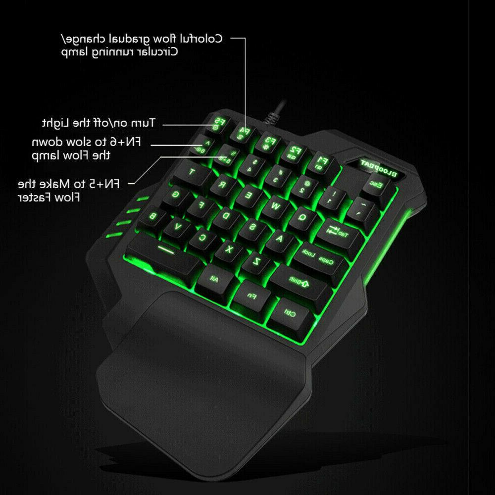 35 Keys Hand Mechanical Gaming Mouse for PC
