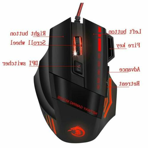 35Keys One-Handed Keyboard Mouse Mechanical For Game LOL Dota PUBG