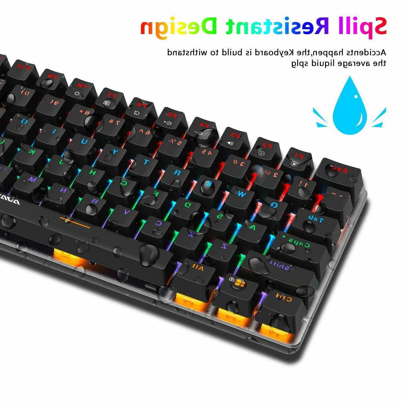 AK33 Rainbow LED Keyboard