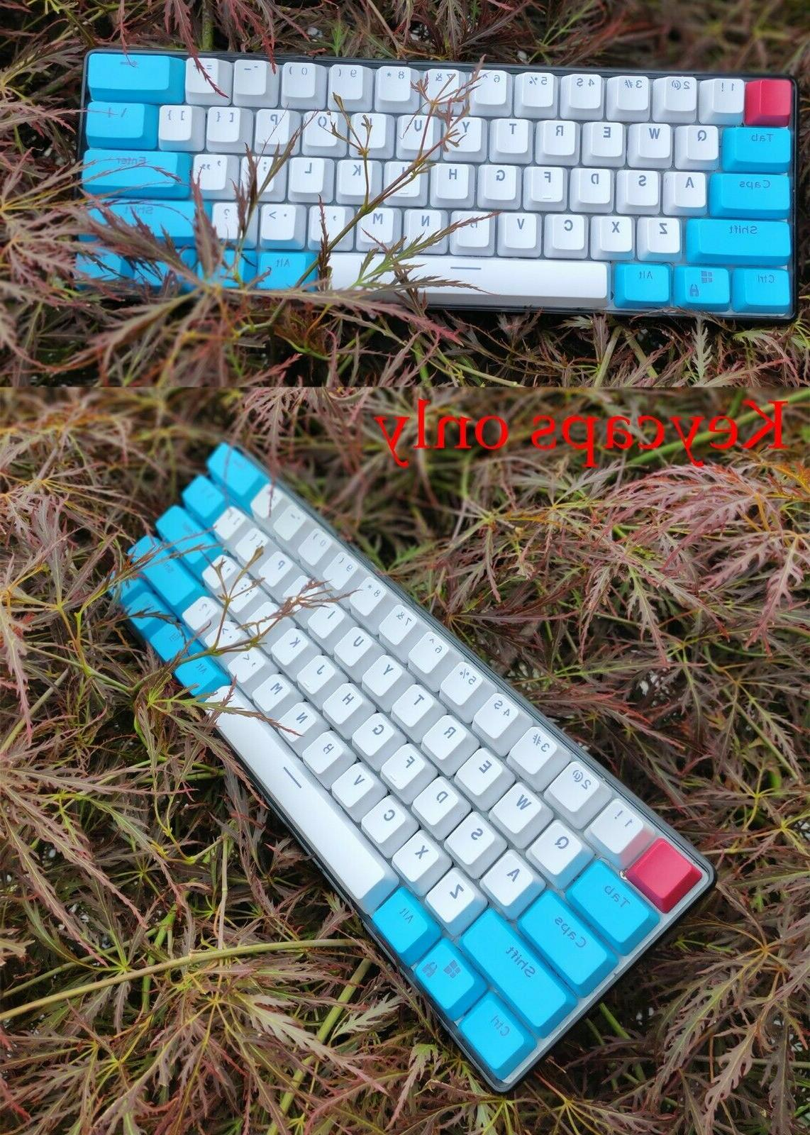 61 Key PBT Thick 60% Keycaps ANSI Layout for Mechanical Keyb